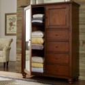 Aspenhome Cambridge 4 drawer 2 Door Chiffarobe  - Item Number: ICB-459-BCH