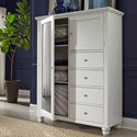 Aspenhome Cambridge 4 drawer 2 Door Chiffarobe  - Item Number: ICB-459-EGG