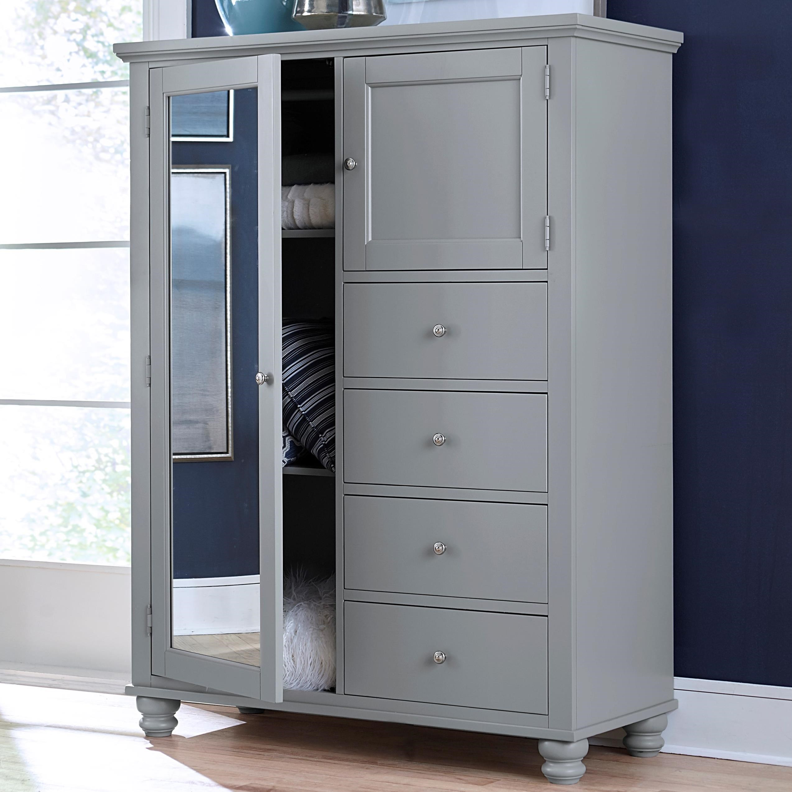 Cambridge 4 drawer 2 Door Chiffarobe  by Aspenhome at Stoney Creek Furniture