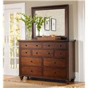 Aspenhome Cambridge Chesser Mirror - Shown with matching dresser