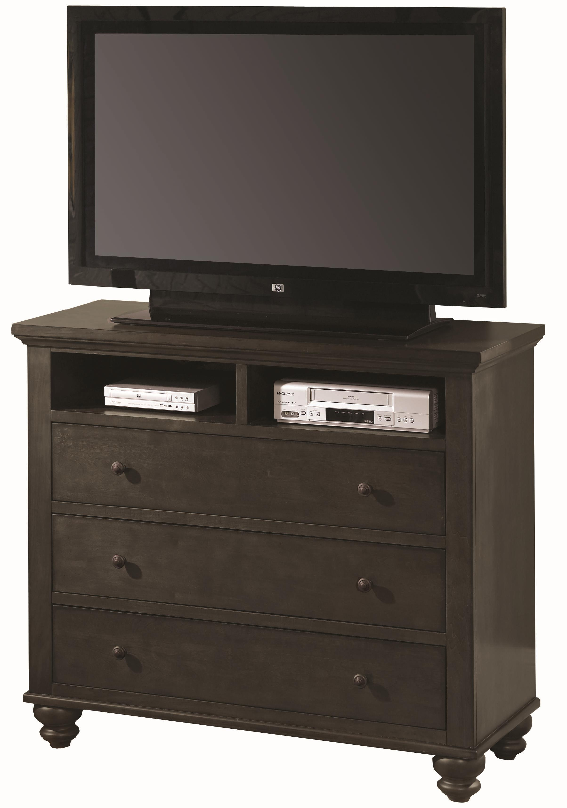 Aspenhome Cambridge Entertainment Chest - Item Number: ICB-485-BLK-1