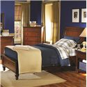 Aspenhome Cambridge Twin-Size Bed with Sleigh Headboard & Drawer Storage Footboard - ICB-500-BCH+503D+502 - Bed Shown May Not Represent Size Indicated