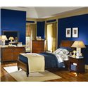 Aspenhome Cambridge Twin-Size Bed with Sleigh Headboard & Drawer Storage Footboard - ICB-500-BCH+503D+502 - Shown with Dresser, Mirror, and Night Stand - Bed Shown May Not Represent Size Indicated