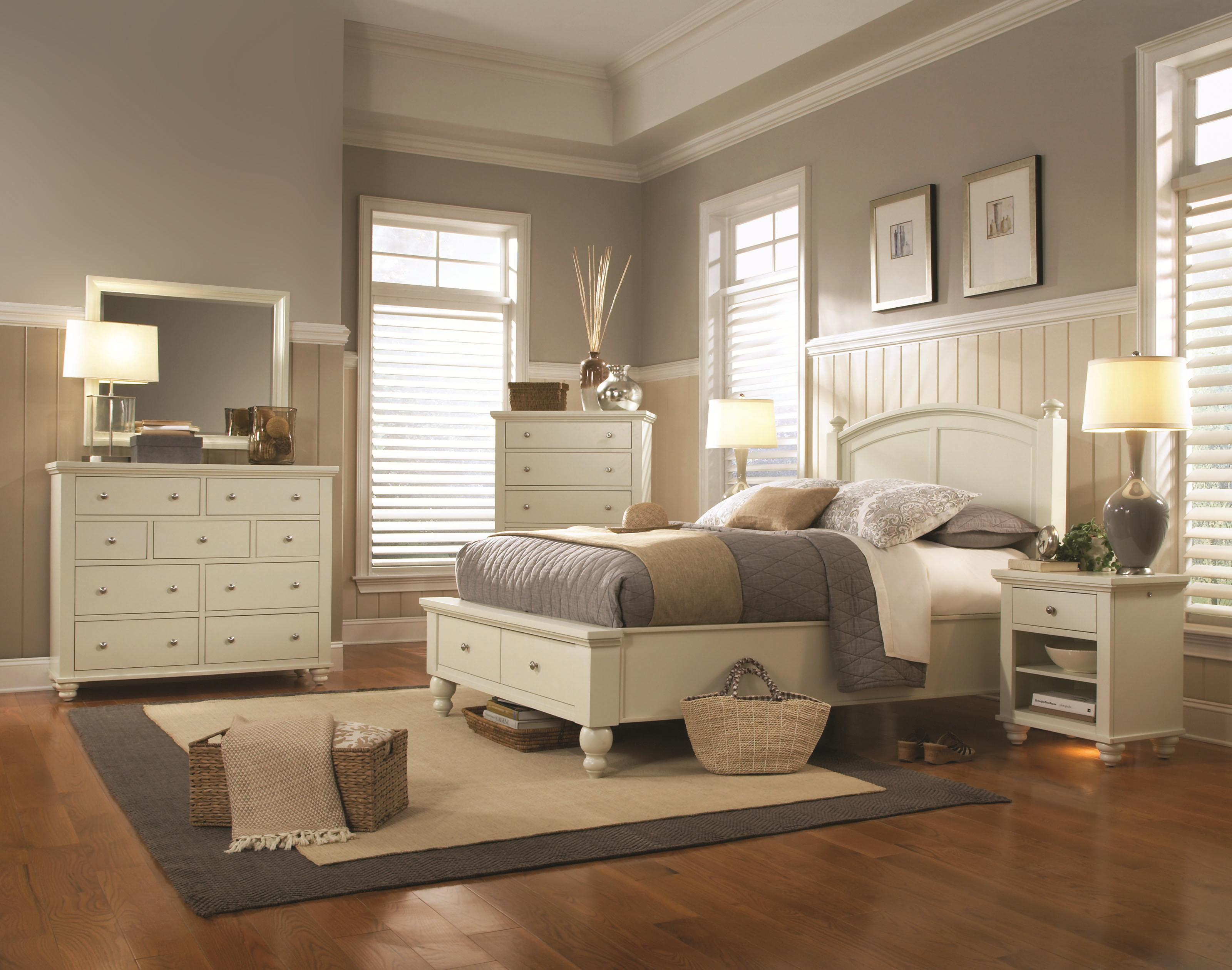 Aspenhome Cambridge Full Size Bed With Rounded Panel