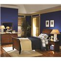 Aspenhome Cambridge Night Stand with Drawer - Shown in Room Setting with Built-in Nightlight On