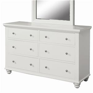 Aspenhome Cambridge 6 Drawer Dresser