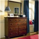Aspenhome Cambridge Chesser with 9 Drawers - Shown with Mirror