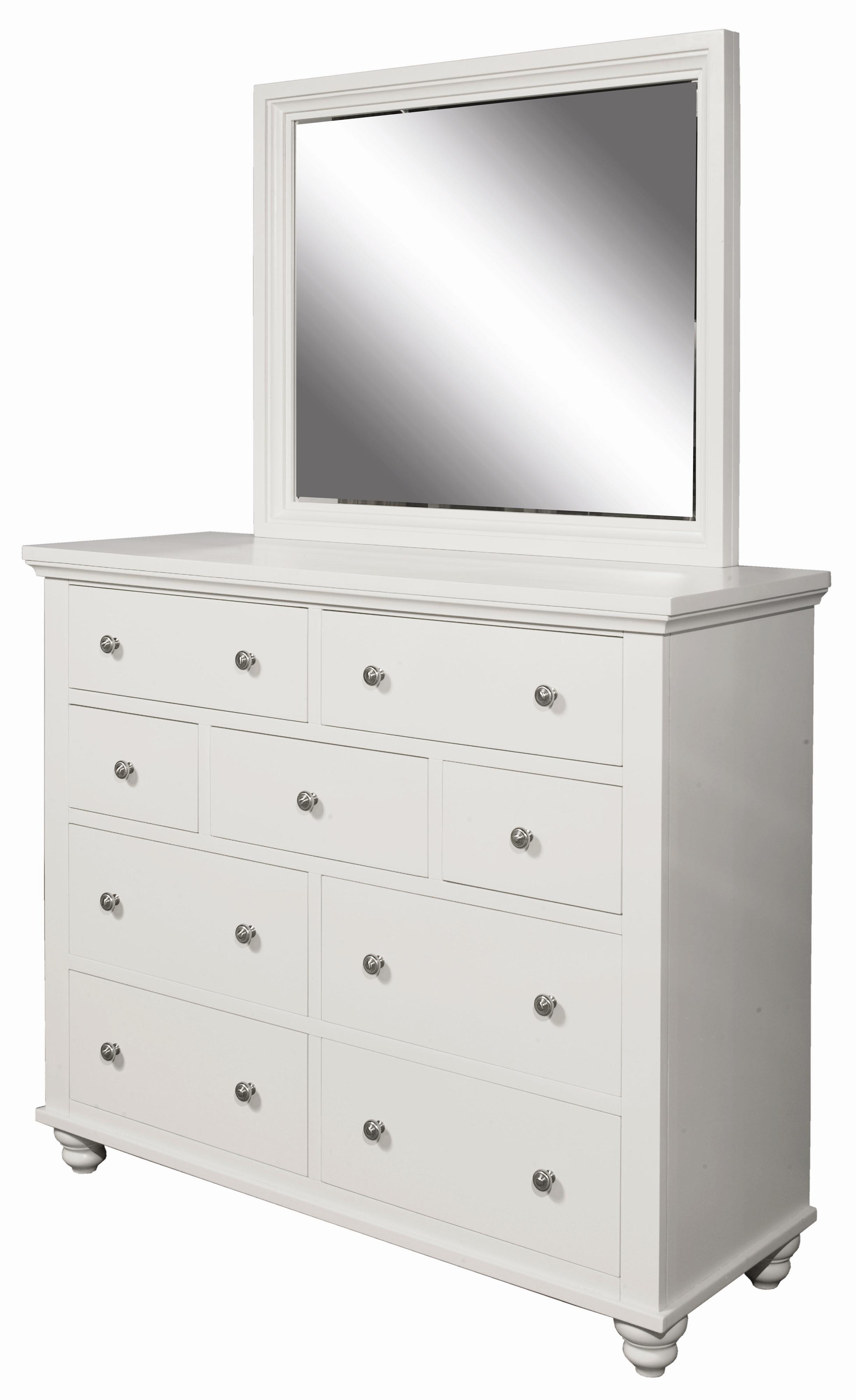 Aspenhome Cambridge Chesser and Mirror Combo - Item Number: ICB-555-EGG+563