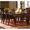 Aspenhome Cambridge Dining Leg Table with (2) Extension Leaves - ICB-6050-BCH - Shown with matching server and chairs