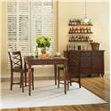 Morris Home Furnishings Clinton 3 Piece Counter Height Table & Chair Set - Shown with Server