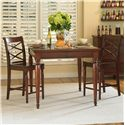 Morris Home Furnishings Clinton 3 Pc. Pub Table Set - Item Number: ICB-6252+2X6671S