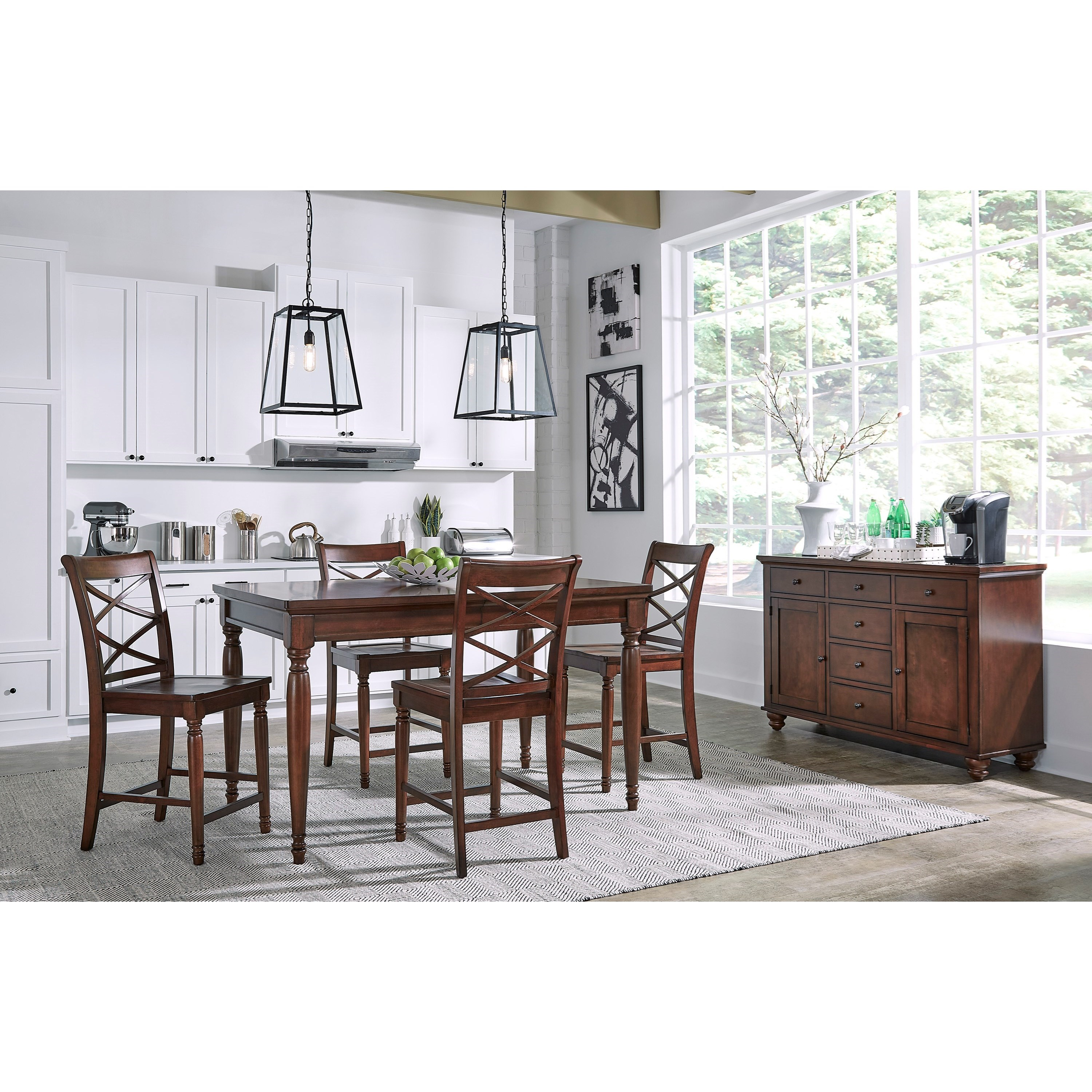 Aspenhome Cambridge 5 Pc. Pub Table Set - Item Number: ICB-6252+4X6671S