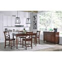 Aspenhome Cambridge 5 Pc. Counter Height Table & Chair Set - ICB-6252+4X6671S
