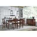 Aspenhome Cambridge 5 Pc. Counter Height Table & Chair Set - ICB-6252+4X6671S - Shown with Server