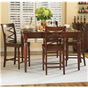Aspenhome Cambridge Counter Height Leg Table - Shown with server and counter height chairs