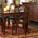 Aspenhome Cambridge Double X Arm Chair - ICB-6670A-BCH - Featured with server, dining table, and side chairs