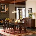 Aspenhome Cambridge Double X Arm Chair - ICB-6670A-BCH - Shown with Dining Leg Table and Server