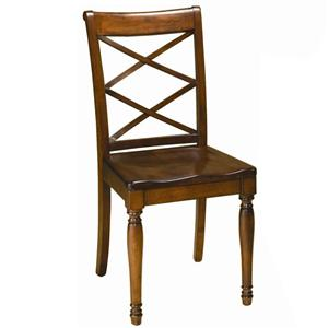Morris Home Furnishings Clinton Clinton Double X Side Chair