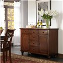 Morris Home Furnishings Clinton Traditional Dining Server with Heat Resistant Granite Top Panels