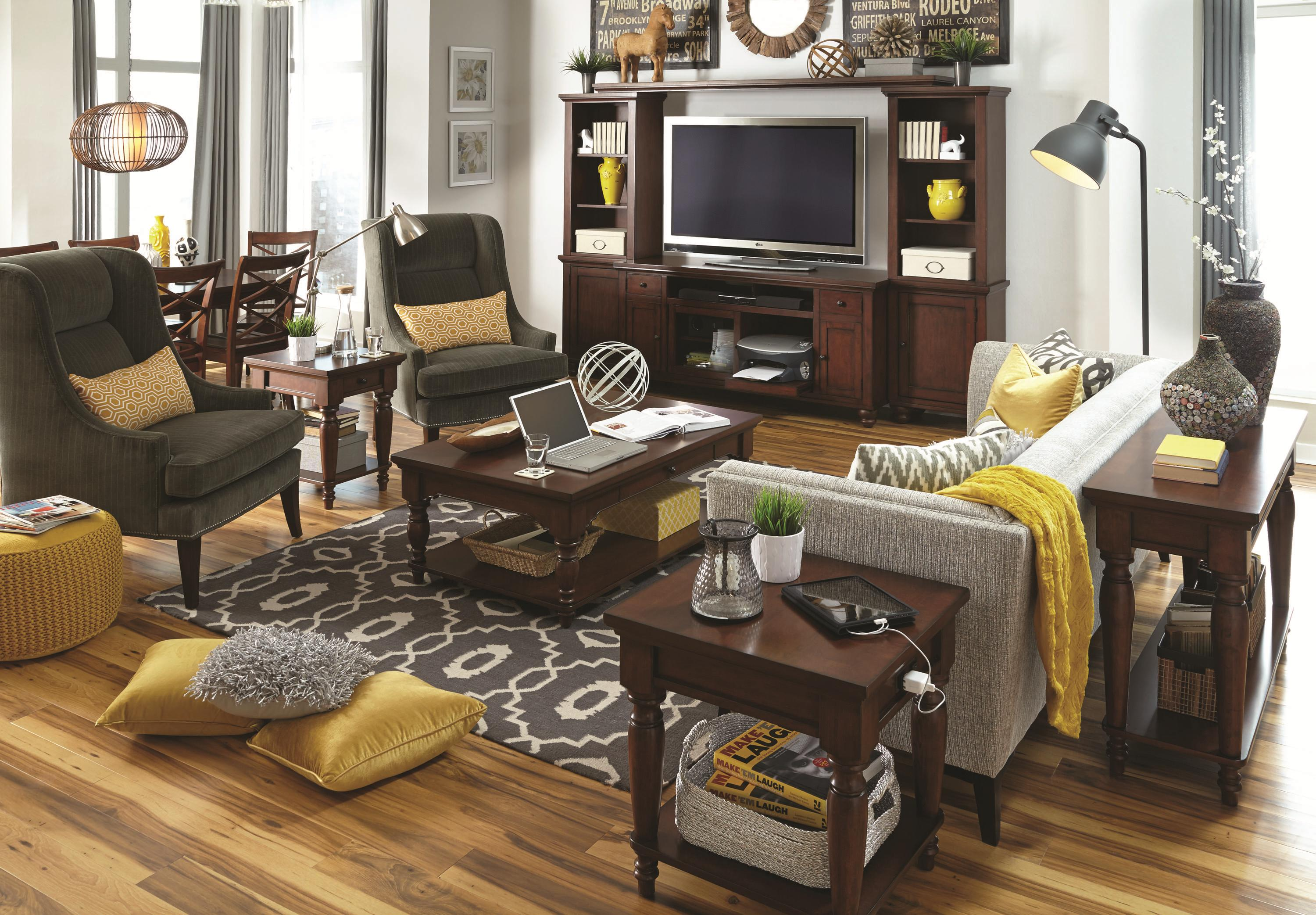 Aspenhome Cambridge End Table With Ac Outlets Belfort Furniture End Tables