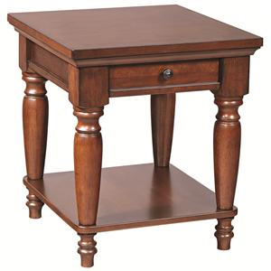 Morris Home Furnishings Clinton Clinton End Table with AC Outlets