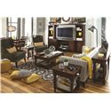 Morris Home Furnishings Clinton Sofa Table with AC Outlets
