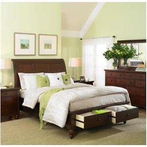 Aspenhome Cambridge Queen Sleigh Bed with Storage Footboard