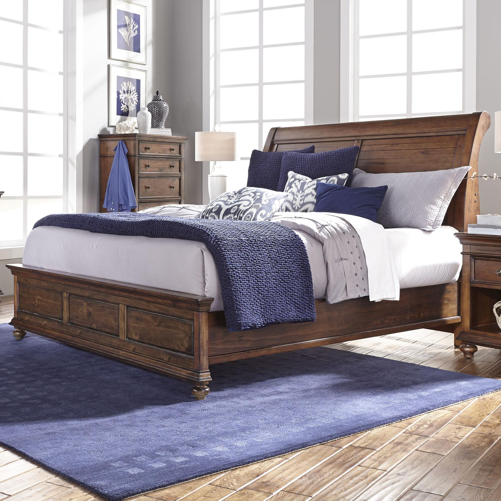 Aspenhome Camden Queen Sleigh Bed - Item Number: I57-400+403+402
