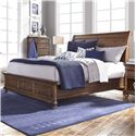 Morris Home Furnishings Camden Queen Sleigh Bed - Item Number: I57-400+403+402