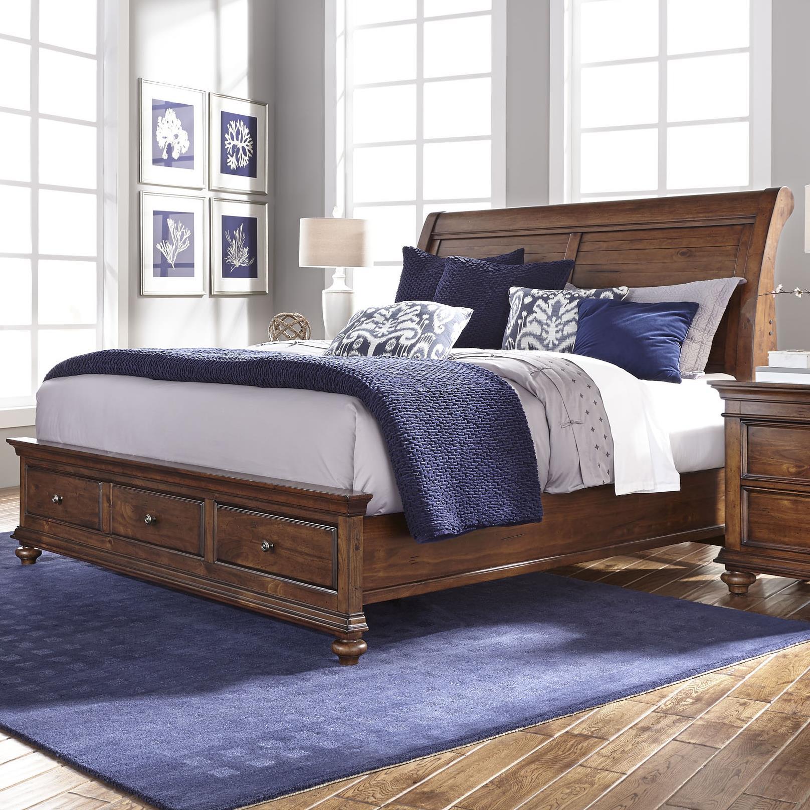Aspenhome Camden Queen Sleigh Bed - Item Number: I57-400+403D+402