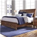 Aspenhome Camden Queen Sleigh Bed with Storage - Bed Shown May Not Represent Size Indicated
