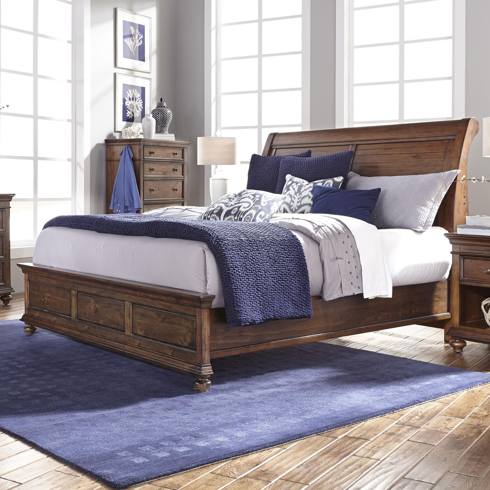 Aspenhome Camden King Sleigh Bed - Item Number: I57-404+407+406