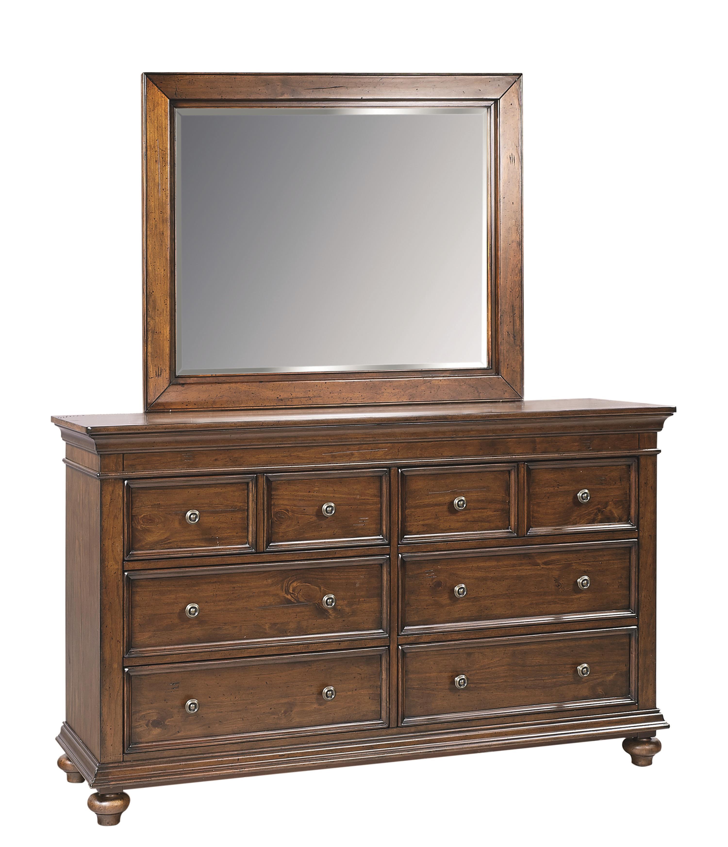Aspenhome Camden Dresser and Mirror - Item Number: I57-453+464
