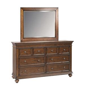 Morris Home Furnishings Camden Dresser and Mirror