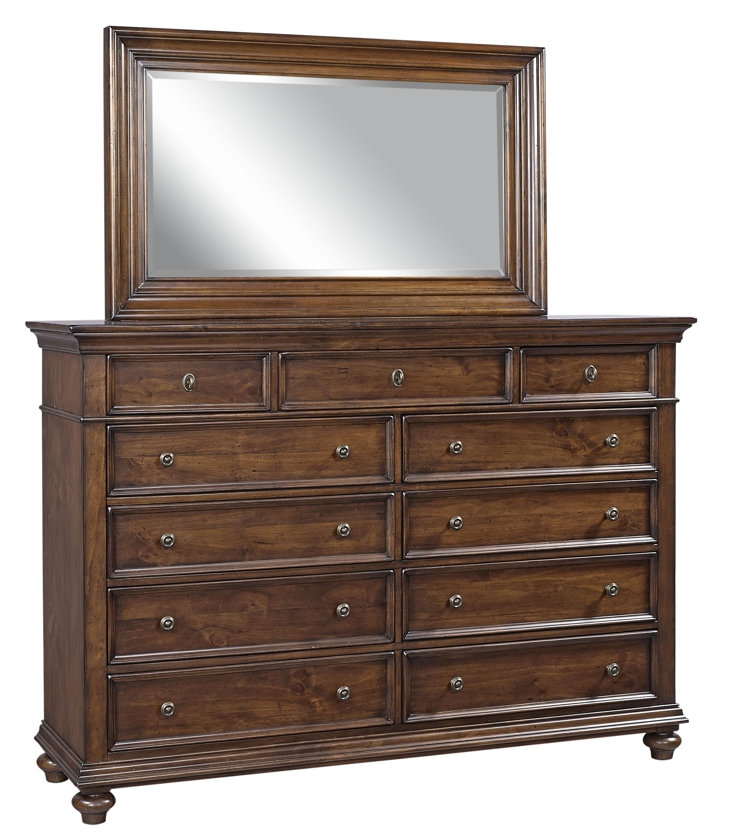 Aspenhome Camden Master Chest and Mirror - Item Number: I57-460+465