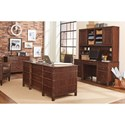 Aspenhome Canfield Credenza and Hutch with USB Port and Outlets