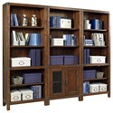 Highland Court Canfield Bookcase Wall - Item Number: ICF-332+2x333