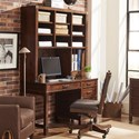 Aspenhome Canfield Single Pedestal Desk and Hutch - Item Number: ICF-350+351