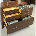 Aspenhome Canfield Combo File with Locking File Drawer