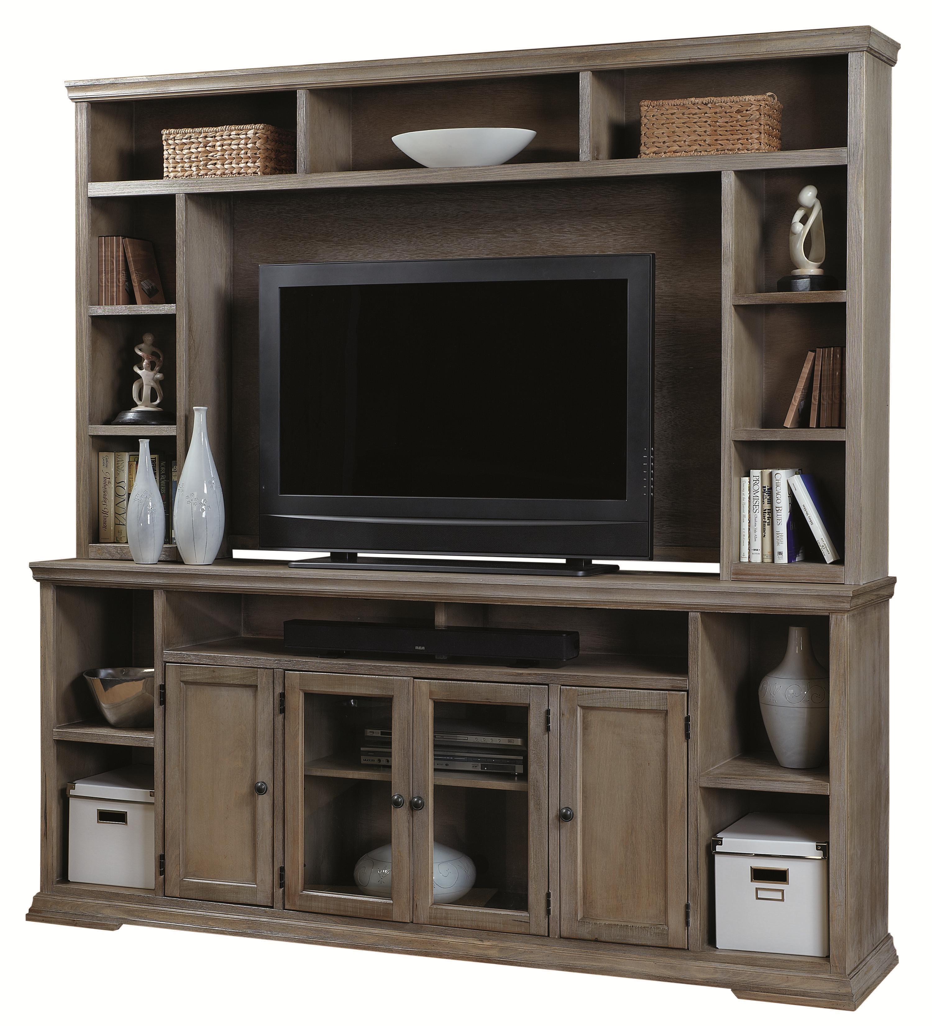 """Morris Home Furnishings Calabasas Calabasas 84"""" Television Console with Hutch - Item Number: 256846579"""