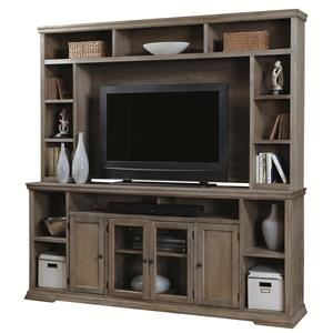 "Morris Home Furnishings Calabasas Calabasas 84"" Television Console with Hutch"