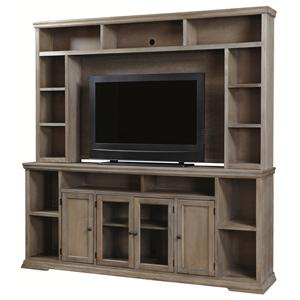 "Aspenhome Canyon Creek 84"" Entertainment Console and Hutch"
