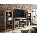 Aspenhome Canyon Creek 60-Inch TV Console with 2 Doors, Open Component Storage Area and Recessed Dividers for Sound Bar