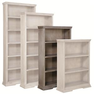 "Highland Court Calabasas 60"" Bookcase with 3 Fixed Shelves"