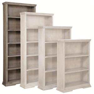"Morris Home Calabasas 84"" Bookcase with 5 Fixed Shelves"