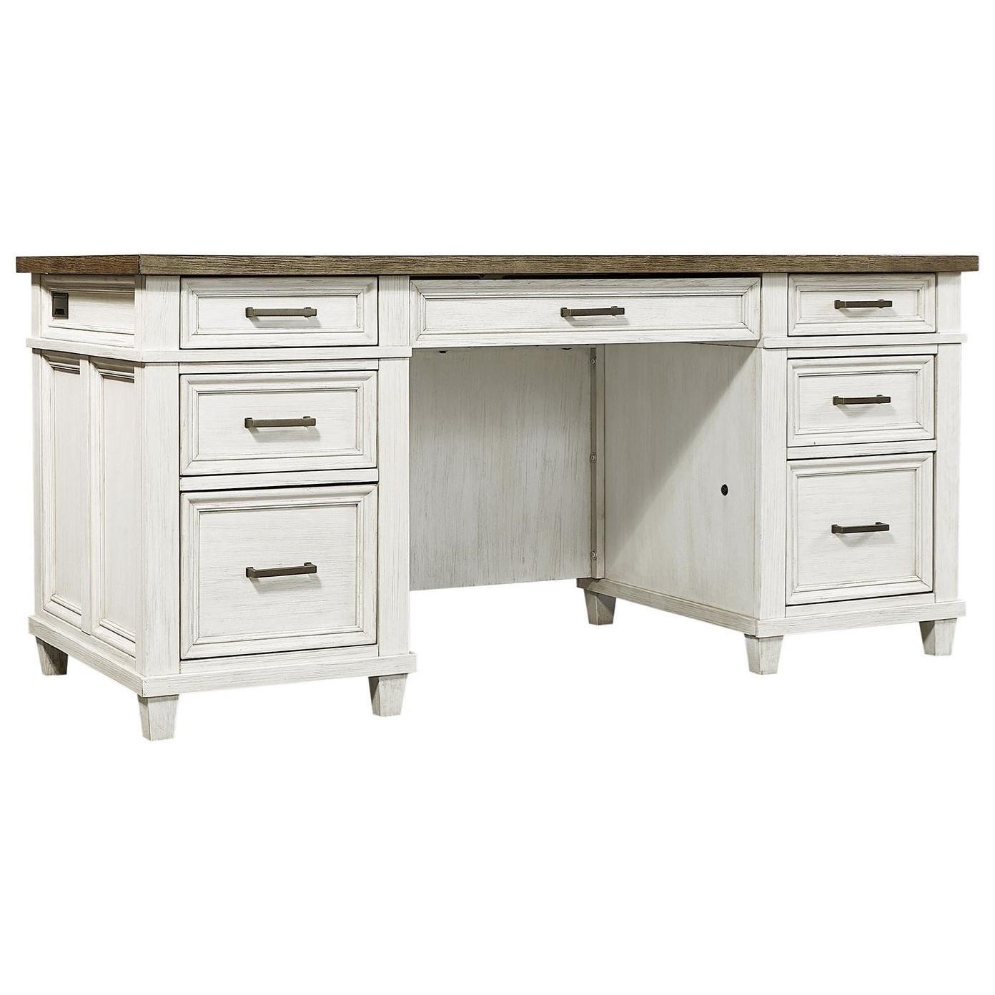 Caraway Executive Desk  by Aspenhome at Furniture Fair - North Carolina