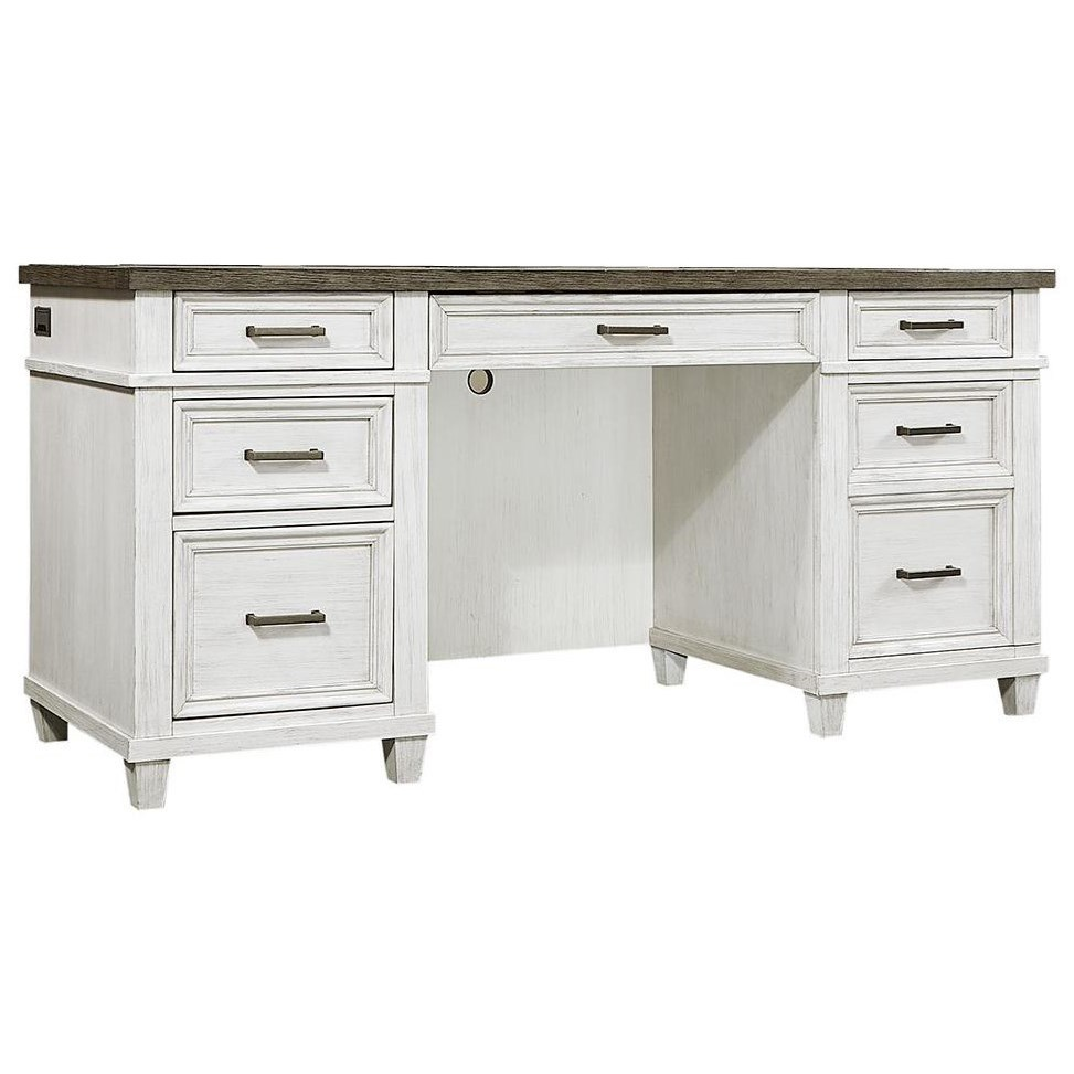 Aspenhome Caraway Casual 5-Drawer Credenza Desk With