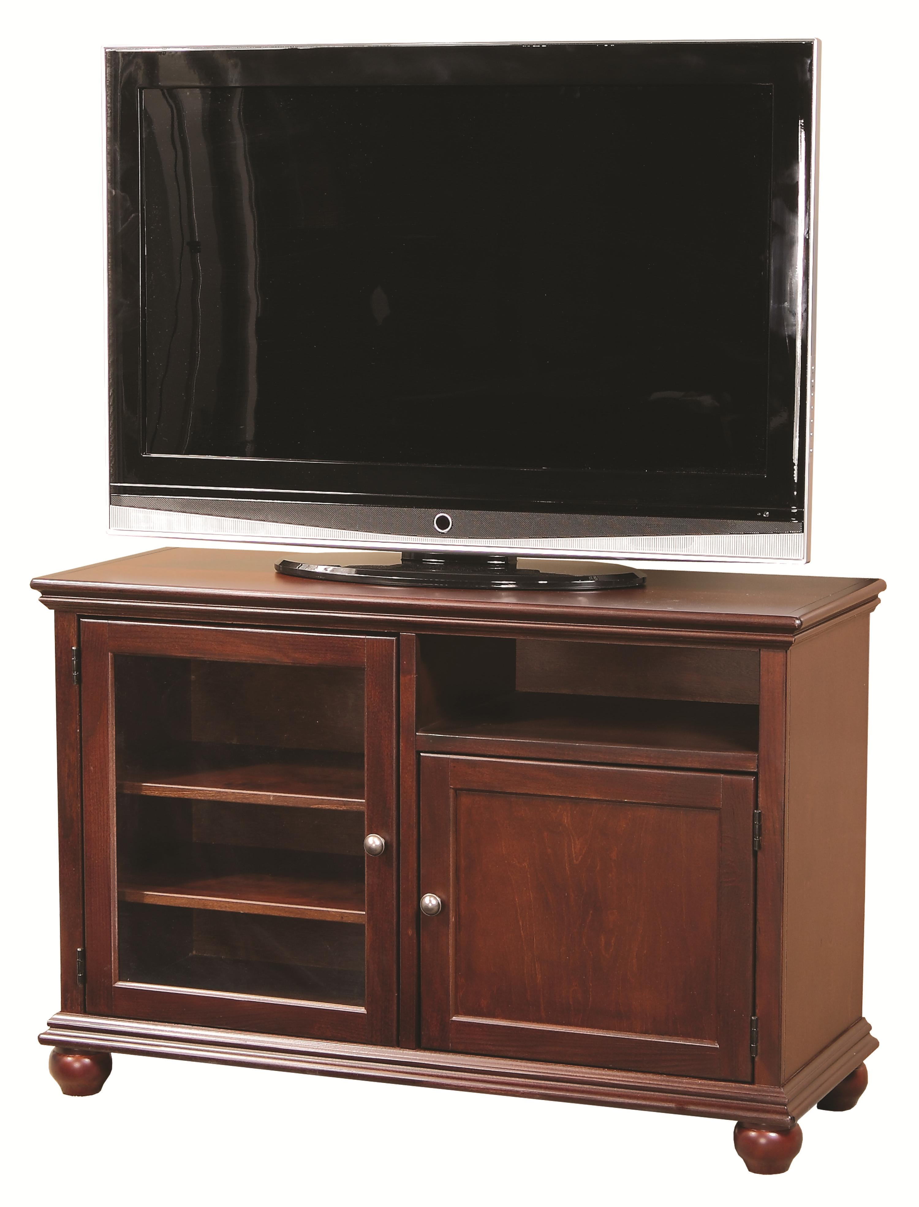 Aspenhome Casual Traditional 45u0026quot; Transitional TV Console with Glass Door - Wayside Furniture ...