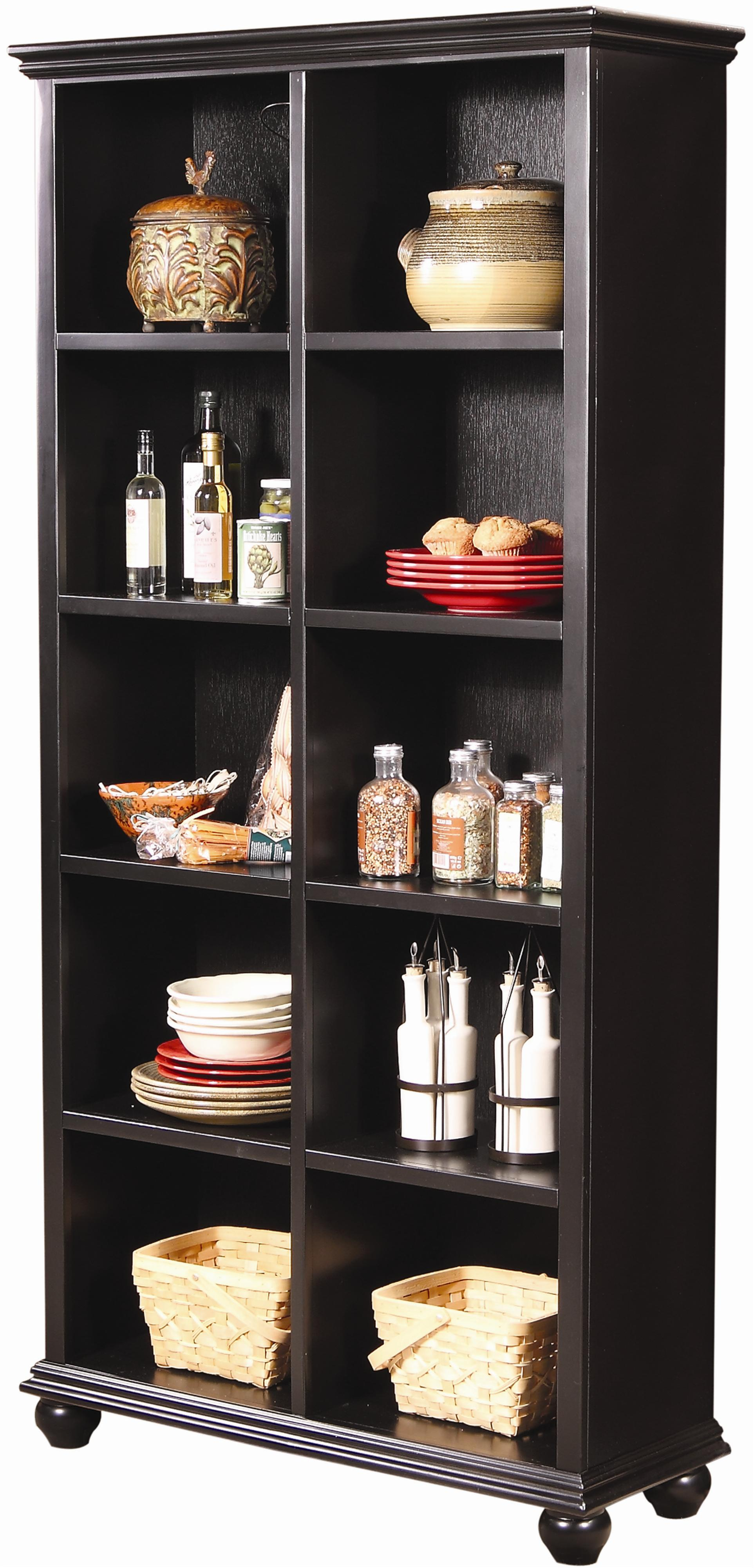 Aspenhome Casual Traditional 77-Inch Bookcase - Item Number: CT4077-BLK