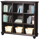 Aspenhome Casual Traditional 48-Inch Bookcase - Item Number: CT4949-BLK